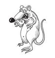 cartoon image of evil rat vector image vector image