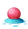 cartoon magic ball on white vector image