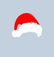 christmas hats icon santa claus costume vector image vector image