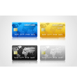 Collection of credit cards vector image vector image