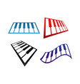 collection piano music logo and icon design vector image