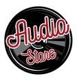 Color vintage audio store emblem