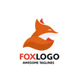 colorful fox vector image