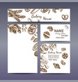 corporate style - bakery background sketch vector image