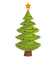 cute christmas tree vector image vector image