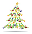 Decorated Christmas tree2 vector image vector image