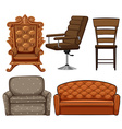 Different design of chairs vector image vector image
