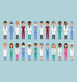 doctors in flat design animated medical vector image vector image