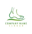 foot logo vector image