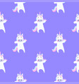 funny unicorn dabbing seamless pattern for the vector image