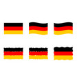 germany flag set official colors and proportion vector image