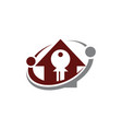 home buy and sell vector image vector image