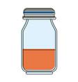 honey glass bottle vector image
