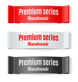 Labels Premium series vector image vector image