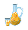 lemonade juice and cup vector image vector image