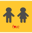 Man and Woman icon Male Female sign Gender symbol vector image