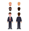 man constructor set of cartoon characters in suit vector image vector image