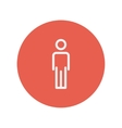 Man standing thin line icon vector image