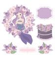mermaid birthday creator clip art vector image