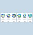 mobile app onboarding screens online laundry vector image vector image