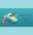nursing home isometric banner vector image vector image