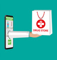 online pharmacy or drugstore vector image vector image