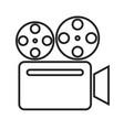 retro camera linear icon vector image