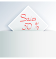 Sales sign vector image vector image