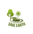 save earth sign vector image