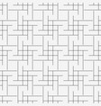 seamless geometric line grid cubes pattern vector image vector image