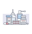 Set medical drugs vector image