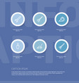 set of 6 editable tools icons includes symbols vector image vector image