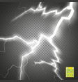 set of lightnings thunder-storm and lightnings vector image vector image