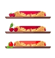 Set of sweet pancakes vector image