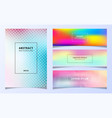 set template abstract smooth blurred pastel vector image vector image