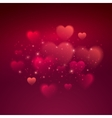 Shiny hearts bokeh Valentine day background vector image vector image