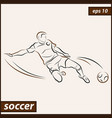 shows a football player vector image vector image