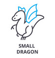 small dragon thin line icon sign symbol vector image