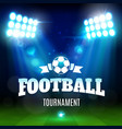 soccer or football stadium field with ball lights vector image vector image