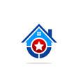 star house winner logo vector image
