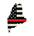 State maine firefighter support flag