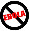 Stop ebola hand leader in black vector image