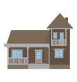 suburban family house with garage vector image