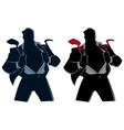 superhero under cover suit silhouette vector image vector image