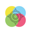 target goal icon target focus arrow vector image