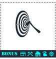 Target icon flat vector image vector image