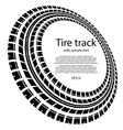 Tire track circles with text vector image vector image