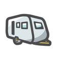 trailer house camper icon cartoon vector image