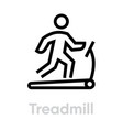 treadmill icon activity vector image