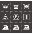 Washing signs icon set vector image vector image
